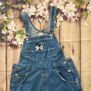 Vintage Disney M shorts overalls Mickey and Minnie